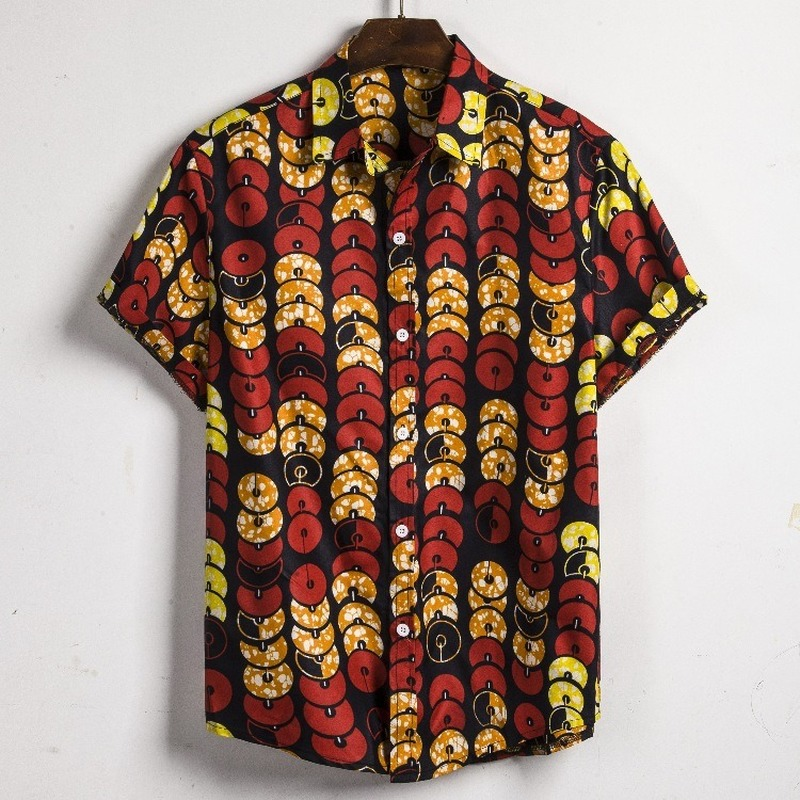 Men Dashiki Loose Blouse Fashion African India Casual T Shirt Men's Clothings Men's Shirts Men's Tops