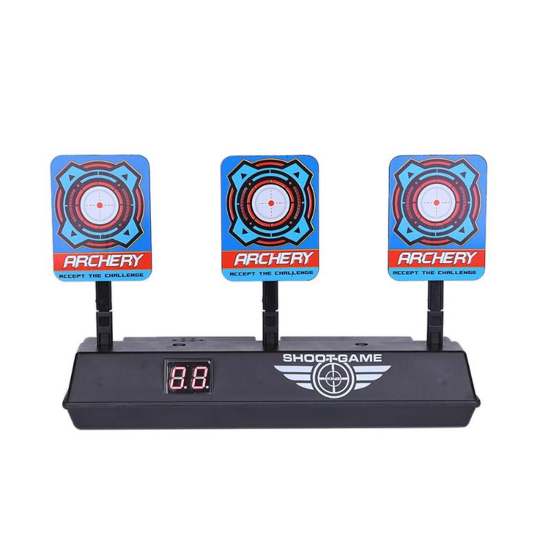For Toys Shooting Target Kids Sound Light Shooting Game High Precision Scoring Auto Reset Electric Gun Target Accessories