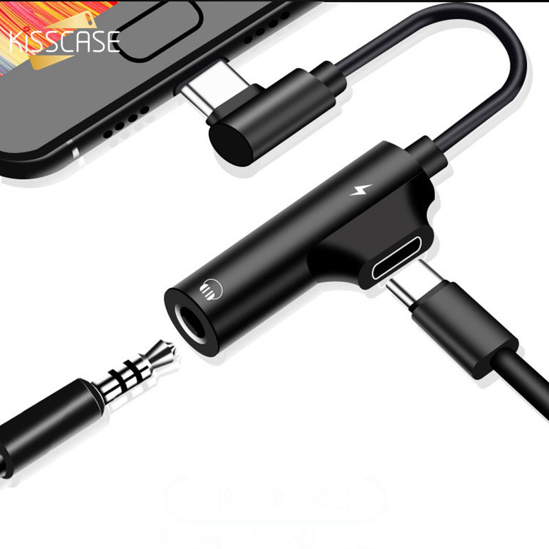 Type C 3.5mm USB Earphone Charging Adapter For Galaxy S10 Plus AUX Headphones For Huawei Mate P30 Pro 20 Xiaomi Mi 8 9 6 SE