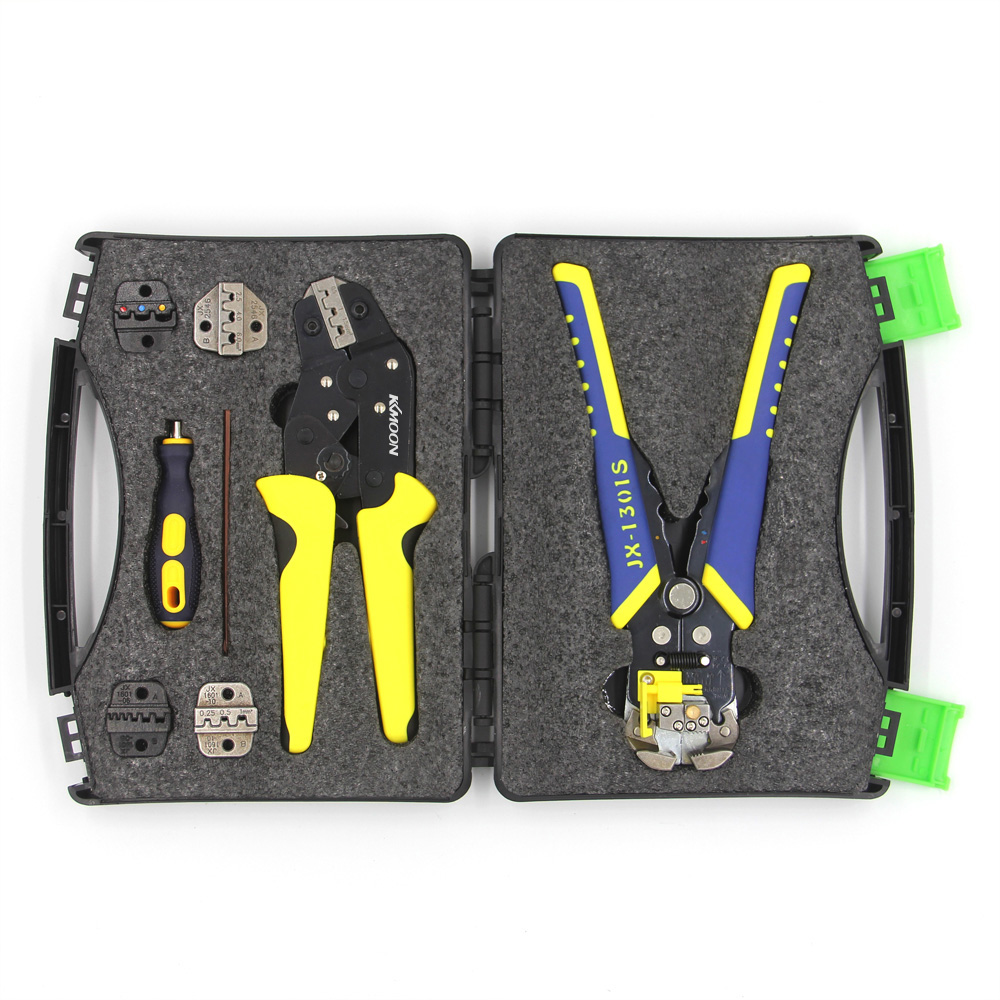 KKmoon Professional Wire Crimpers Terminals Pliers Kit Cable Cutter Engineering Ratcheting Terminal Crimping Plier Wire Stripper