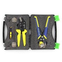 KKmoon профессиональные обжимные клещи комплект кабельный резак инженерные трещотки обжимные клещи для зачистки проводов