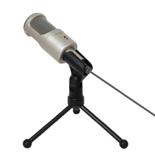 SF-960 3.5mm Audio / USB Wired Condenser Microphone With Shock Mount for Computer Notebook Karaoke PC Laptop sf 922b usb condenser sound microphone