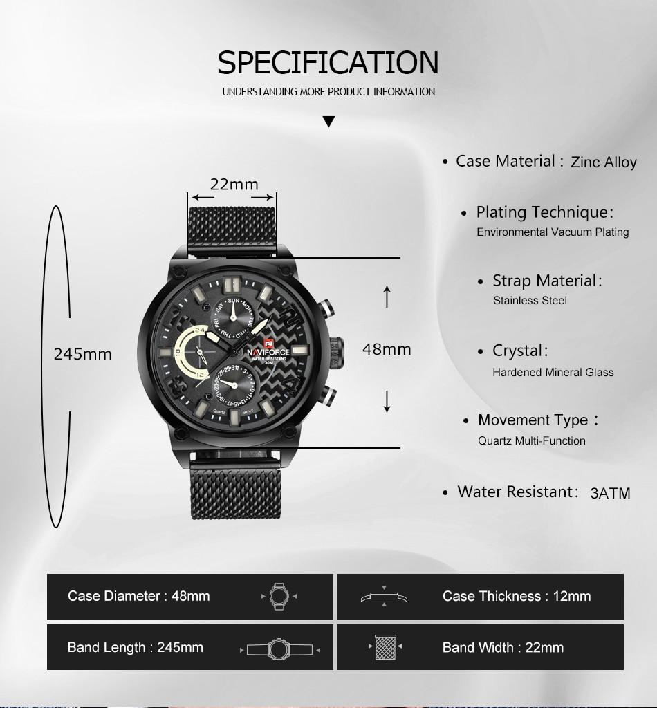 NAVIFORCE NF9068S Men's Waterproof Sport Watch Hcc0d605b51bf4883bf2f94fa3b150ceel