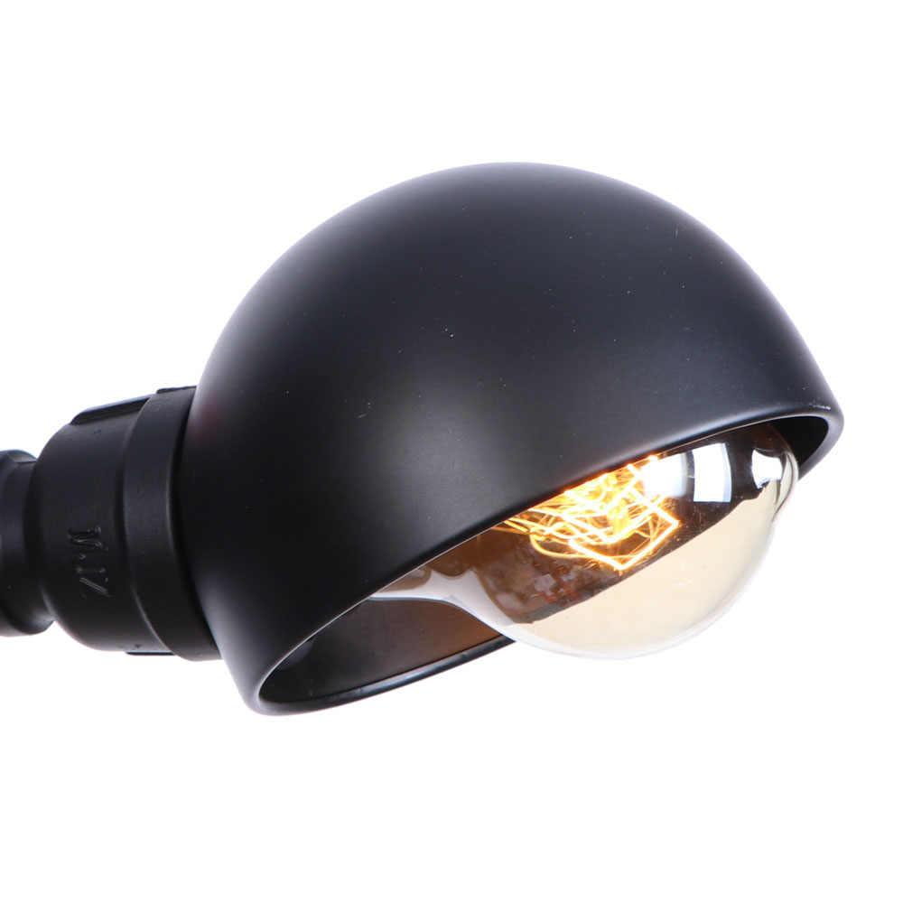 Античный Черный водопровод настенный светильник светодиодный Промышленный Эдисон настенный переключатель для Бра Лофт декор настенные лампы Освещение для дома светильник