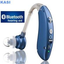 2021 best Mini Rechargeable Hearing Aid Digital BTE Hearing Aids Adjustable Tone Sound Amplifier Portable Deaf Elderly audifonos