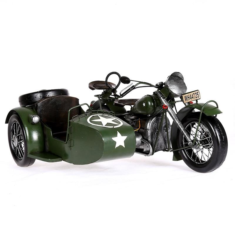 Europese Vintage Home Decor Motorfiets Model Creatieve Metaal Ambachten Verjaardag Geschenken Collectie Souveni Woondecoratie Accessoires