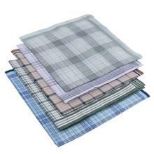 5 Pcs 100 % Cotton Handkerchiefs  Men Premium Pocket Square Hankies Gift Male Handkerchief