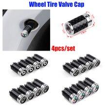 4PCS Car Wheel Tire Valves Core Cover Tyre Air Valve Stem Caps for Jaguar XEL XFL E PACE F PACE I PACE XJ KIA Opel Accessories