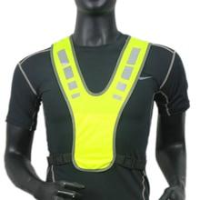 Светоотражающий жилет безопасная куртка для бега езды на велосипеде мотоцикл ночь