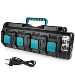 4-Port Max DC18SF 14.4/18V Fast USB Battery Charger for Li-ion Battery Protable Q84A