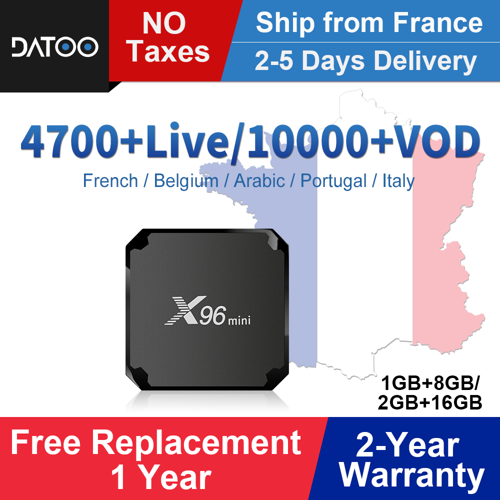 X96 mini France IPTV Box Full Hd French IPTV Android 7.1 Smart Tv Box IPTV Portugal Arabic Italy Belgium Turkey IP TV X96mini-in Set-top Boxes from Consumer Electronics