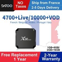 X96 mini France IPTV Box Full Hd French IPTV Android 7.1 Smart Tv Box IPTV Portugal Arabic Italy Belgium Turkey IP TV X96mini цена