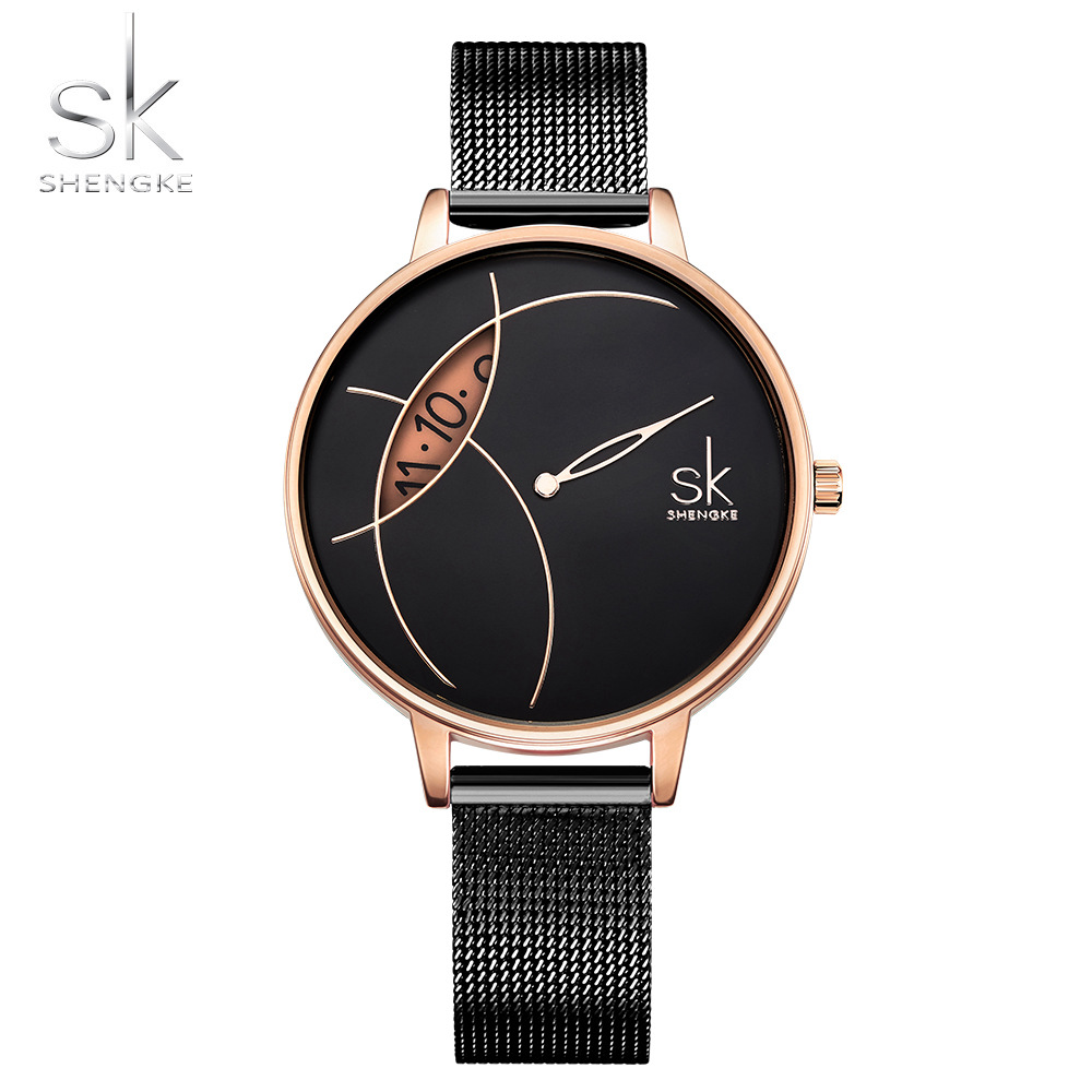 Shengke Luxury Women Wrist Watch Creative Fashion Women Watches Ladies SK Watch Clock Montre Feminino Relogio Mujer Saati Hours