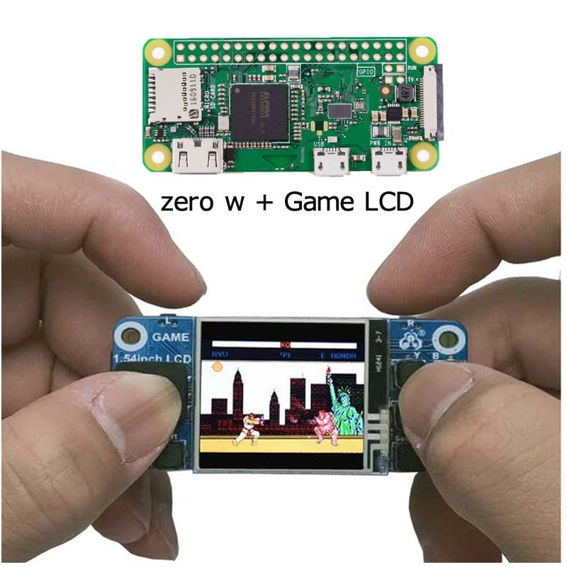 Raspberry Pi Zero W+ 1.54 Inch Mini Game LCD Touchscreen For Raspberry Pi Zero W/3B/3B+