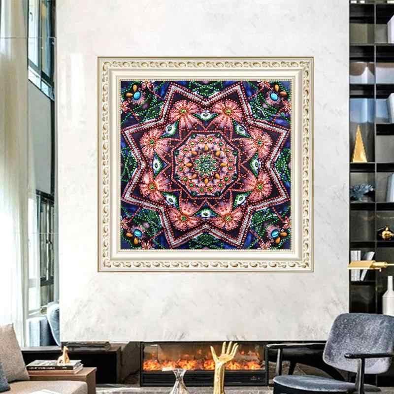 5D FAI DA TE Speciale A Forma di Diamante Pittura Mandala Ricamo Mosaico Kit Punto Croce Pittura Di Natale Decorazioni Per La Casa