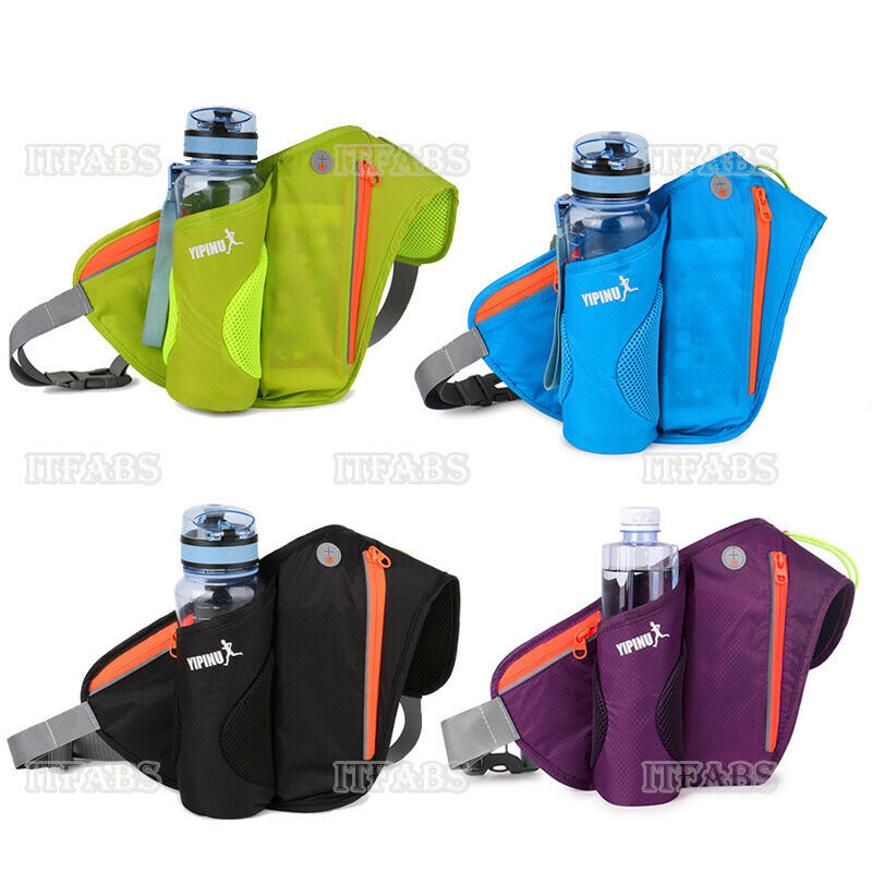 Gym Running Belt Jogging Cycling Waist Pack Pouch Sports Bag 300ML Water Bottles Sports Runner Bag Water Bottle Holder