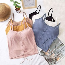 Women Sexy Lingeries Beauty Back Camis Underwear Padded Camisole Knitted Tank Tops Fashion Ladies Intimates