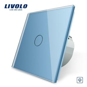Image 3 - Livolo EU 표준 벽 조명 터치 스위치, 벽 홈 스위치, 크리스탈 유리 스위치 패널, 220 250 V, corss, 조광기, 무선, 커튼