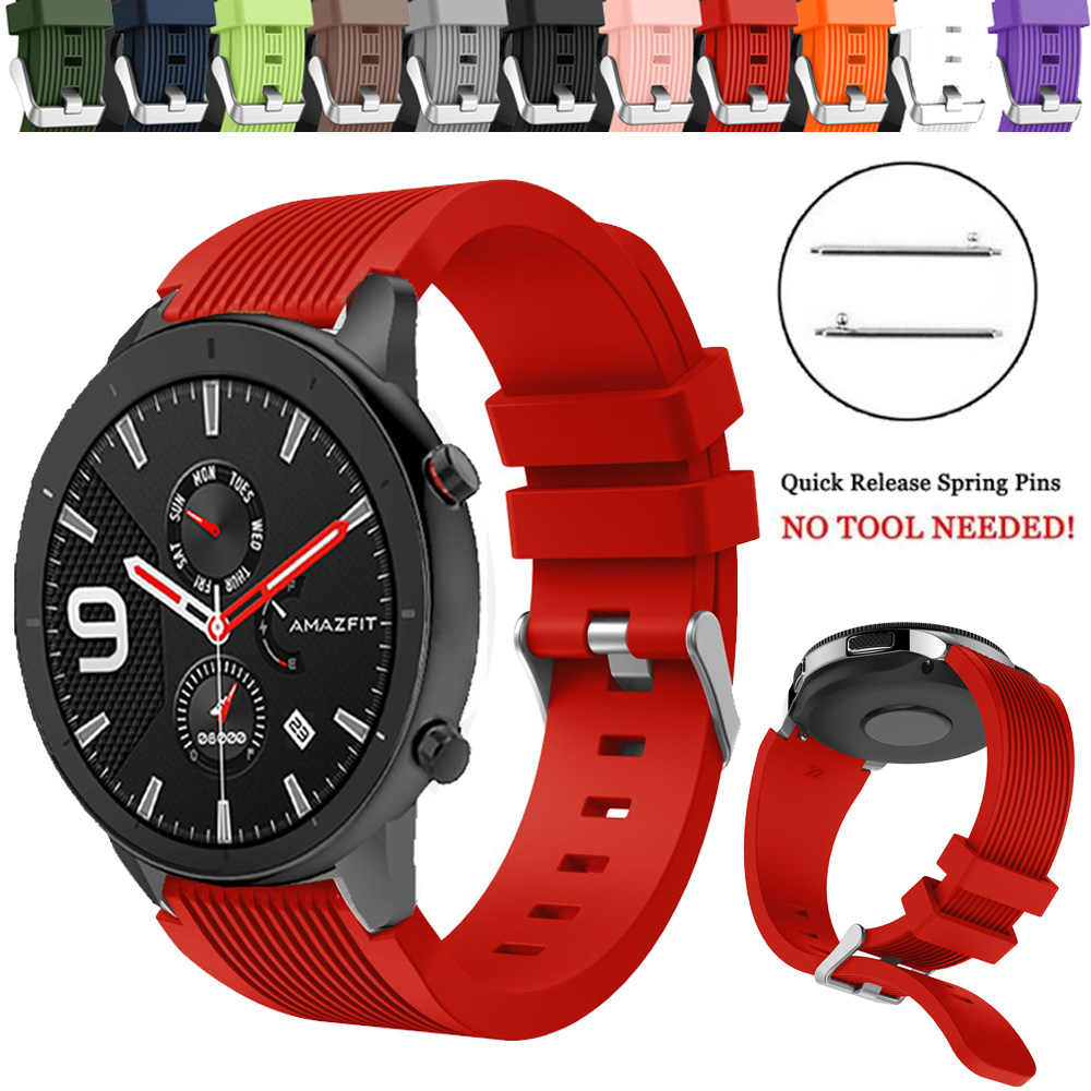 For Huami Amazfit GTR 47mm Replacement Silicone Breathable Band Strap