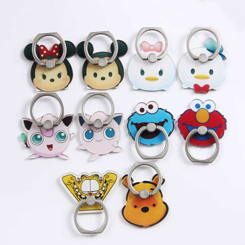 Cartoon Character Phone Holder Ring Mobile Phone Stand Mickey Minnie Duck Bear Finger Phone Ring Holder Support Celular