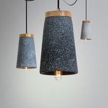 Industrial Cement Pendant Lamp Modern Led Wood Pendant Lights Car Vintage Dining Room Lights Hanging Kitchen Lighting Fixtures(China)