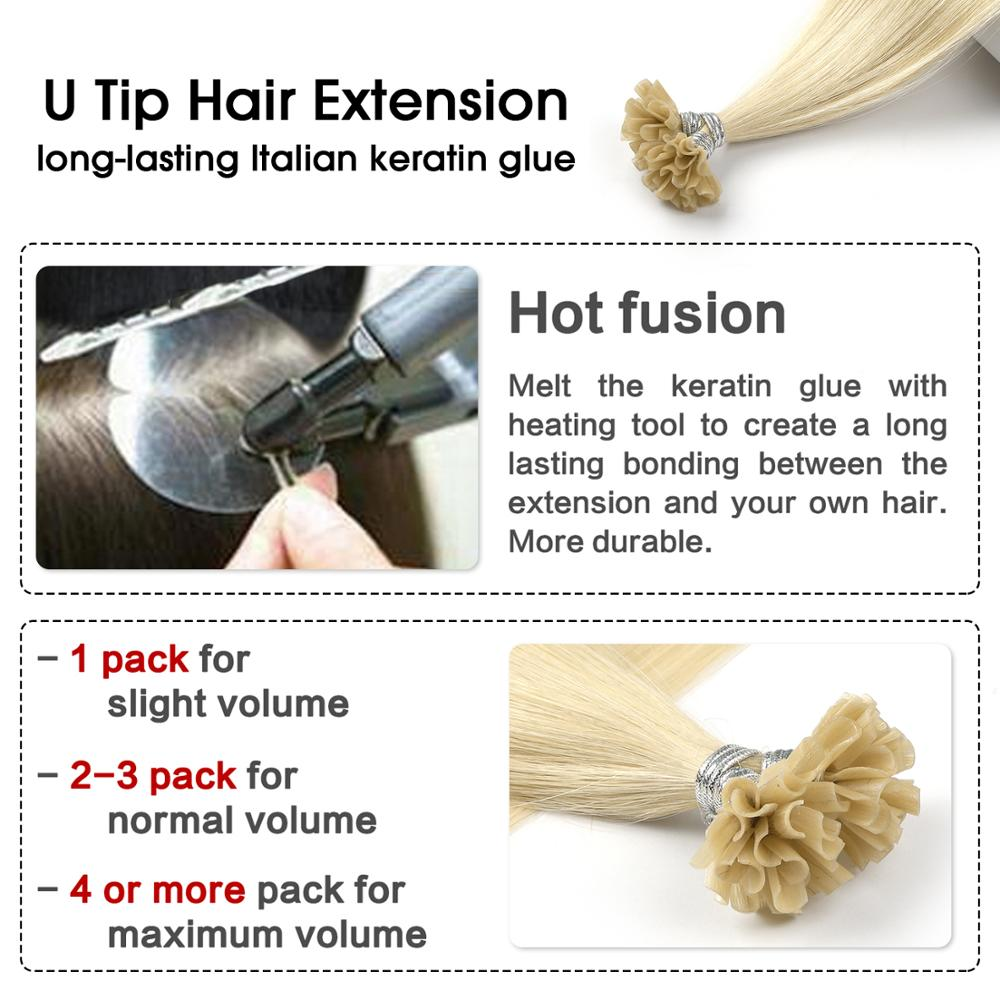 Neitsi Pre Bonded Nail U Tip Machine Made Remy Human Fusion Hair Extensions Straight Keratin Capsules 28 quot 70cm 1 0g s in Nail U Tip from Hair Extensions amp Wigs