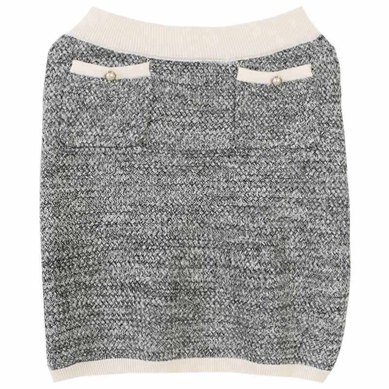 XITAO ニット二枚セットポケットシングルブレストトップ女性ファッション新 2019 秋エレガントな少数民族膝丈パンツ WLD2892