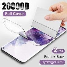 2Pcs Protetor de Tela Para Samsung Galaxy S21 S20 S10 S9 S8 Plus S20FE Hidrogel Film Para Samsung A50 A51 A70 A71 Nota 20 10 8 9