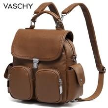 Женский рюкзак VASCHY с защитой от кражи, милая маленькая сумка трансформер из искусственной кожи, сумка на плечо для девушек подростков
