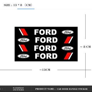 Image 5 - 4Pcs Car Rearview Mirror Sticker Car Door Handle Stickers Auto Decal For Ford Fiesta EcoSport ESCORT Ranger Mondeo Mustang FOCUS