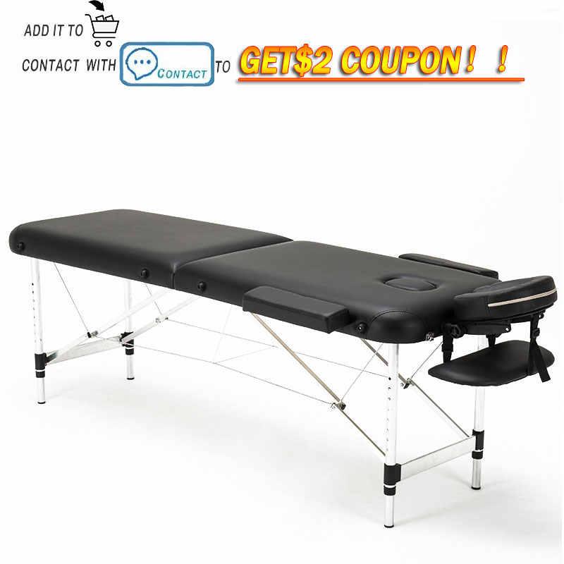 Cama de belleza plegable, mesas de masaje de Spa portátiles profesionales, ligeras y plegables con bolsa, muebles de salón de aleación de aluminio