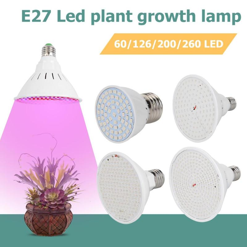 LED Grow Lights Phyto Lamp E27 60/200/260LED Grow Lamp For Indoor Vegetable Flowers Seedling Plant Growth Phyto Lamp Dropshiping