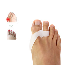 1Pair=2pcs Silicone Foot Care Gel Bunion Two Toe Straightene