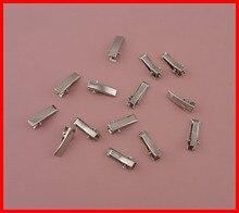 100PCS Silver 20mm Rectangle plain mini Metal Alligator Clips hair clip with teeth DIY hair jewelry,small hair barrettes hairpin
