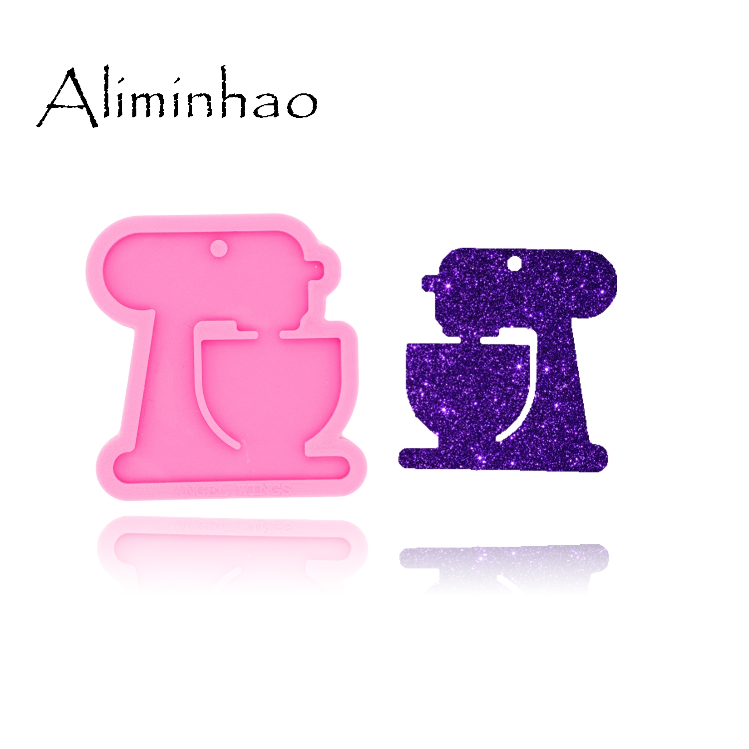 DY0445 Shiny Glossy Sewing Machine Necklace Jewelry Epoxy Mould Crafting Keychain Silicon Resin Silicone Mold