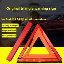 Original triangle warning sign for Audi Q3 A4 Q5 Q5L A3 A5 A6 warning sign parking reflective tripod