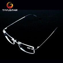 Titanium alloy glasses frame Rimless eyeglasses myopia Prescription
