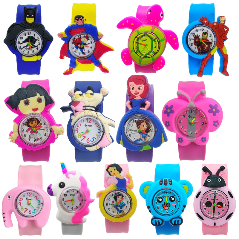 1pcs/lot Free Shipping 2020 New Silicone Children Watch Kids Slap Watches Animal Team Child Watch Girls Boys Students Clock