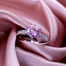 Modyle موضة ستة الشق سوليتير خاتم الزواج للنساء AAA تشيكوسلوفاكيا حجر المشاركة فام شريط خاتم هدية عيد الحب لفتاة