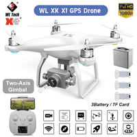 WL XK X1 Drone GPS Two axis gimbal Stabilizer 5G WiFi 1080P HD Camera Drones profissional RC Quadcopter Dron VS F11 pro SG906 X6
