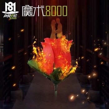 Antorcha a flor-antorcha a Rosa truco de magia llama flor que aparece profesional mago bar ilusión apoyos