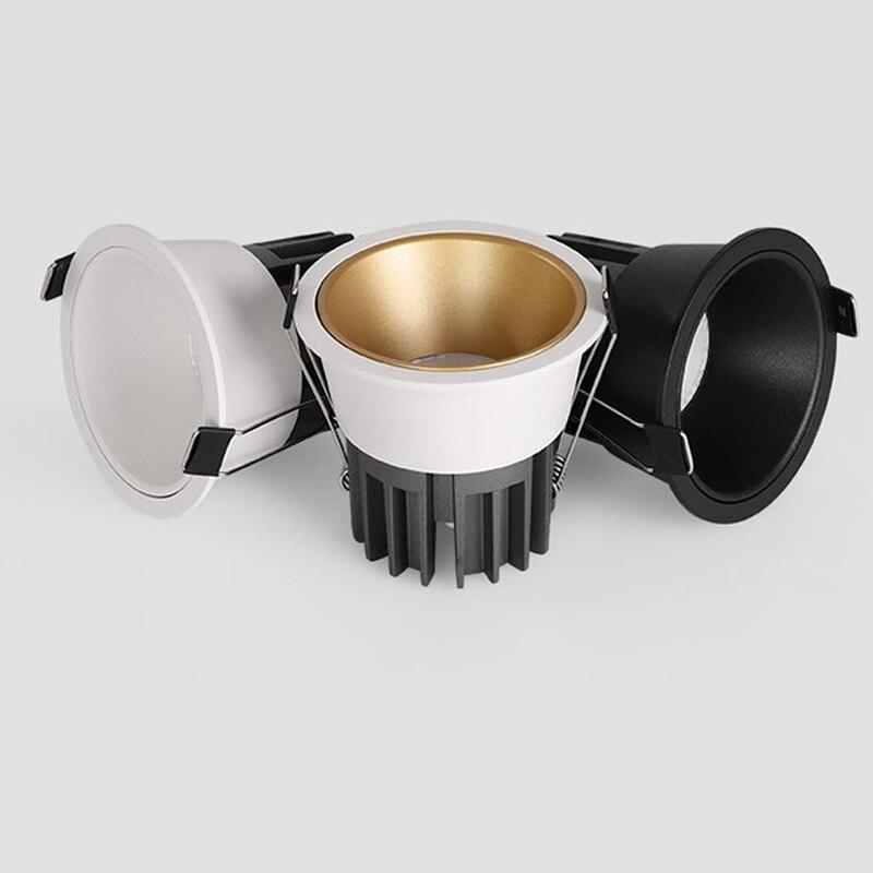 Super Helle Einbau Dimmbare LED Downlight COB 7W 10W Warmweiß Natur Weiß Kaltweiß Vertiefte LED Lampe spot Licht