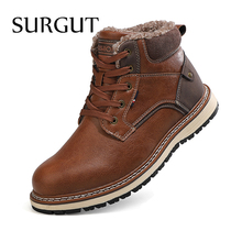 Boots Working-Shoes Ankle Warm SURGUT Waterproof Casual Fashion High-Quality Winter Male