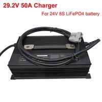 LiFePO4-cargador rápido de batería para coche, cargador inteligente de 2000W, 29,2 V, 50A, 24V, 8S, 24V, LiFePO4, AGV