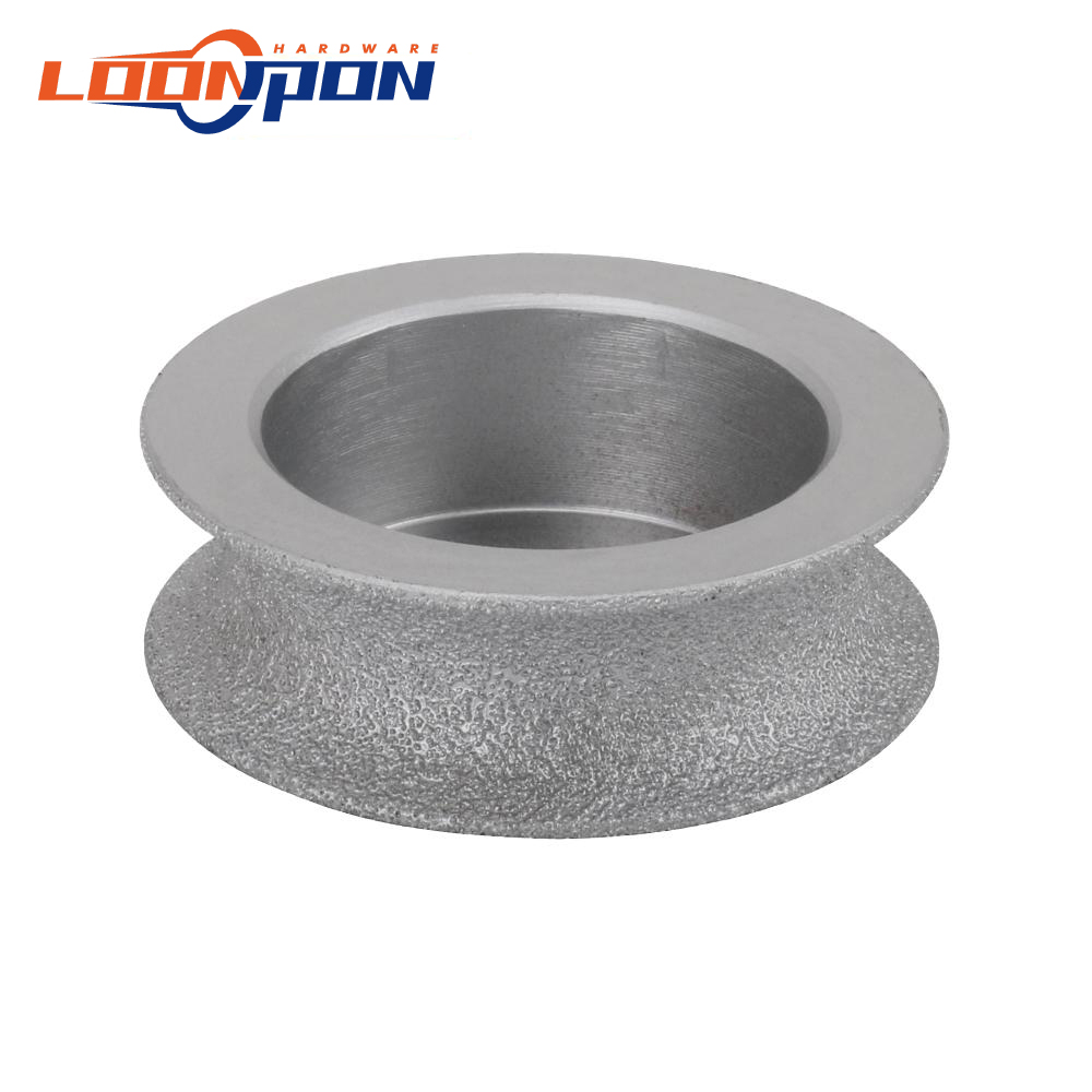 75mm Brazed Diamond Grinding Disc of Half-Round Edge Diamond Disc Used Dry or Wet 15mm/20mm/25mm/30/35mm