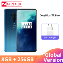 Global Version Oneplus 7T Pro 8GB 256GB Snapdragon 855 Plus Octa Core 48MP Triple Cameras 90Hz Fulid AMOLED 3800 mAh UFS 3.0 NFC