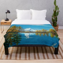 Drop Shipping Printed Throw Blanket Sherpa Fleece Soft Blanket Flannel Rug Home Decoration For Bed Matterhorn Mountain Lake View цена 2017