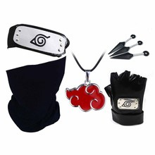 Cosplay Fashion Gloves Mask Headband Anime Accessories Weapon Kunai Notebook Props Toy Blue Maskes Gift Men Fans