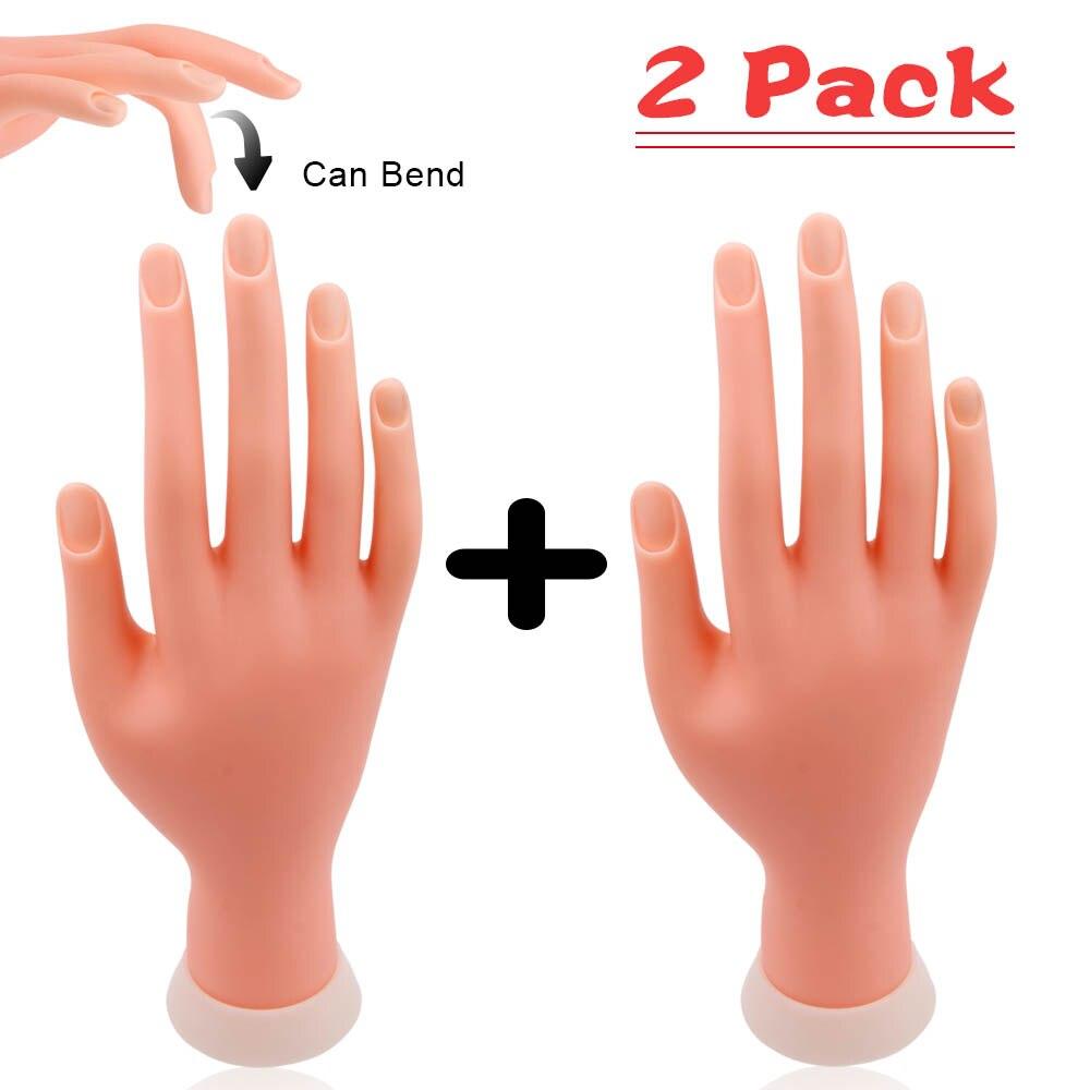 Main de pratique pour la manucure modèle de formation de main dongle Flexible prothèse mobile douce imprimante de faux ongles outil de manucure