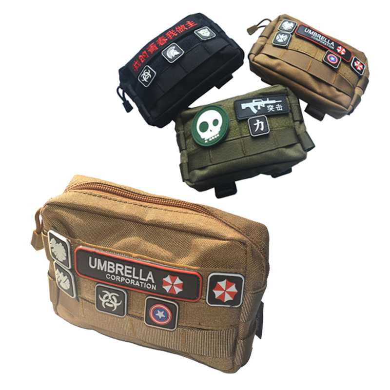 Outdoor EDC Multi-functional Tactical Clutch Bag Army Fans Camouflage Velcro Bag MOLLE System Accessory Kit